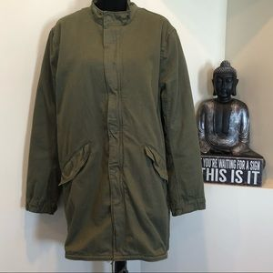 NWOT Divided by H& M Adirondack army green jacket